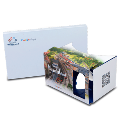 Google Cardboard location promotion with Google Street View Miniatur Wunderland