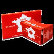 branded google cardboard in coca cola design virtual reality viewer