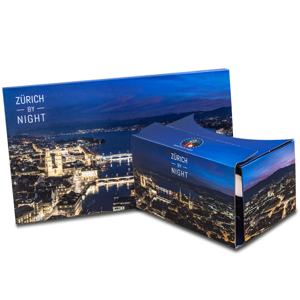 branded google cardboard in zürich by night design virtual reality viewer