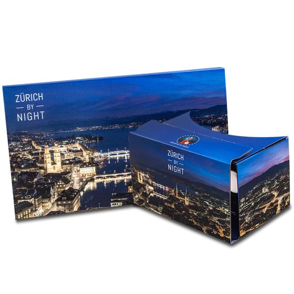 branded google cardboard in zürich by night design virtual reality viewer