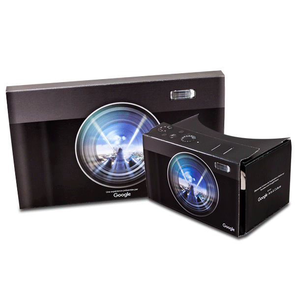 branded google cardboard in red bull design virtual reality viewer