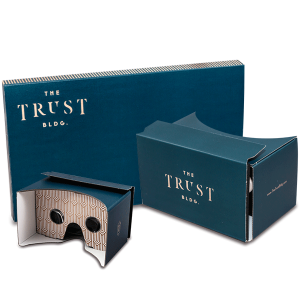 Branded Custom Virtual Reality Viewer The Trust Bldg